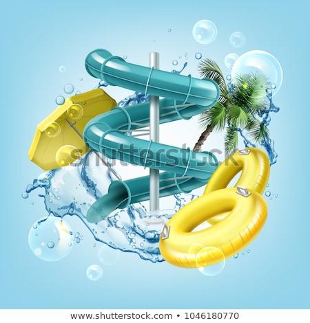 su · parkı · örnek · gülümseme · çocuklar · havuz · eğlence - stok fotoğraf © adrenalina