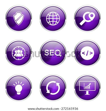 Seo internet teken violet vector knop Stockfoto © rizwanali3d