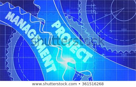İş stratejisi dişliler planı stil mekanizma teknik Stok fotoğraf © tashatuvango