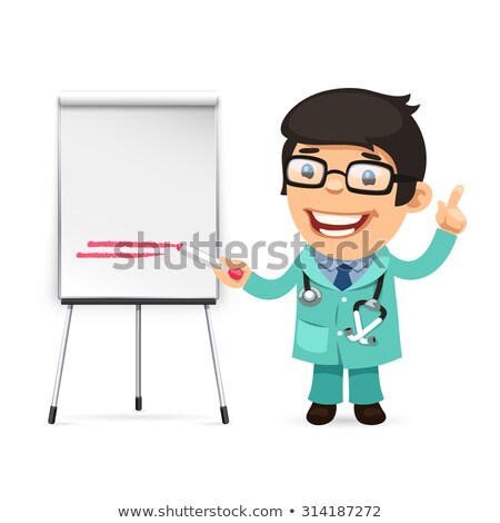 Doctor With Marker in Front of the Flipchart Stock photo © Voysla