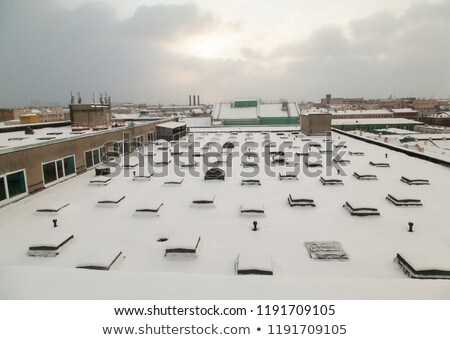 雪 カバー 屋根 黄昏 光 ウィンドウ ストックフォト © Digifoodstock