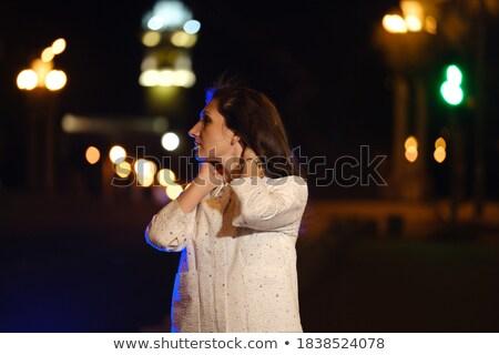 танцы волос ночь городской улице девушки Сток-фото © zurijeta