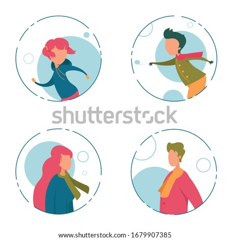 Boys with faceless in frame Stock photo © bluering