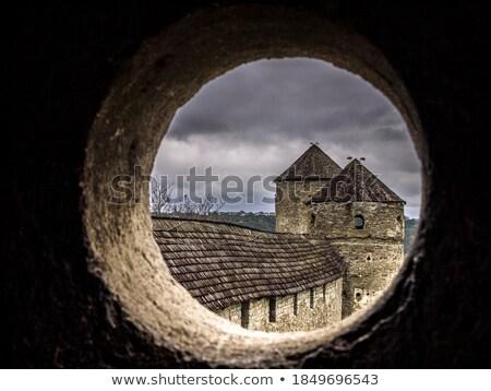 крепость мнение башни окна Румыния средневековых Сток-фото © lightkeeper