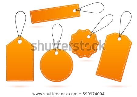 оранжевый тег изолированный белый знак продажи Сток-фото © goir