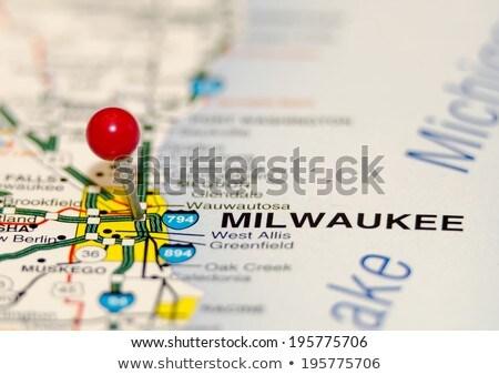 milwaukee pin on the map Stock photo © alex_grichenko
