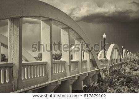 Beton ív híd dél folyó szivárvány Stock fotó © PixelsAway