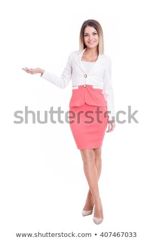Hermosa jóvenes negocios mujer estudio cara Foto stock © andreonegin