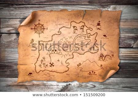 宝 羊皮紙 実例 紙 地図 ストックフォト © adrenalina