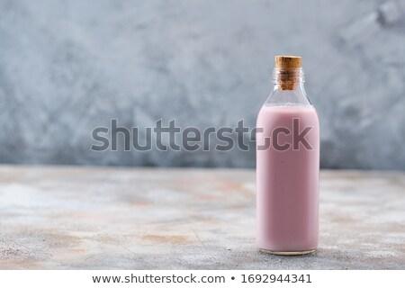 Bere yogurt bottiglie latte dessert liquido Foto d'archivio © yelenayemchuk