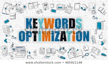 Keywords Optimization in Multicolor. Doodle Design. Stock photo © tashatuvango