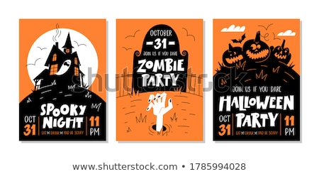 Zombie party. Handwritten text for greeting invitation card Stock photo © orensila