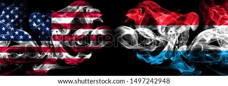 Piłka nożna płomienie banderą Luksemburg czarny 3d ilustracji Zdjęcia stock © MikhailMishchenko