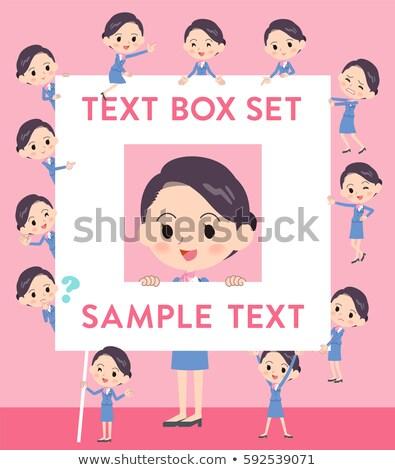 キャビン 青 女性 文字 ボックス セット ストックフォト © toyotoyo