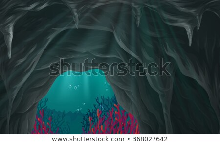 An underwater cave scene Stock photo © bluering