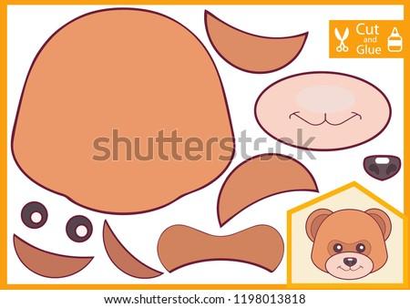 Rajz medve iparművészet illusztráció művészetek mosolyog Stock fotó © cthoman