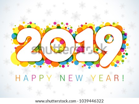 icon calendar 2019 year 2 stock photo © oakozhan
