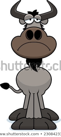 Sad Cartoon Wildebeest Stock photo © cthoman