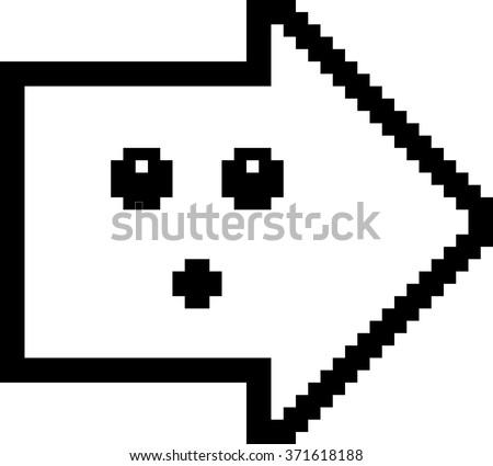 Sorprendido Cartoon flecha ilustración mirando estilo Foto stock © cthoman