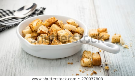 Stock photo: Stale bread and breadcrumbs
