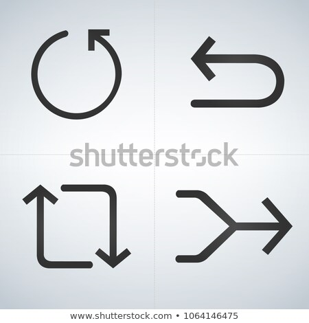 Set of flat and black arrows for back, replay, merge. vector isolated illustration. Stock photo © kyryloff