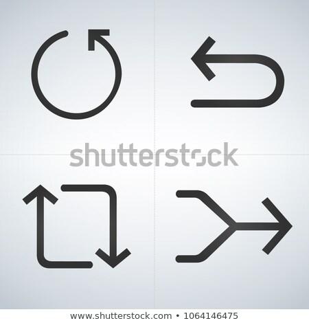 Szett fekete nyilak hát vektor izolált Stock fotó © kyryloff