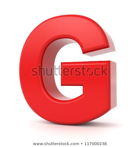 Piros fényes betűtípus g betű 3D renderelt kép Stock fotó © djmilic