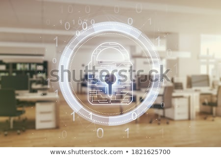 laptop · escudo · internet · segurança · antivírus · firewall - foto stock © rastudio