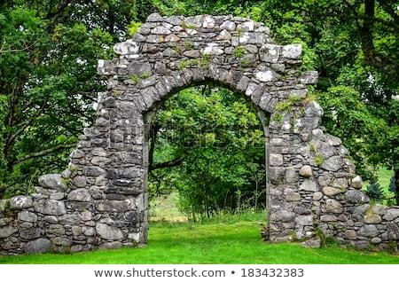 Vechi piatră intrare perete textură Imagine de stoc © boggy