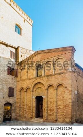 Stok fotoğraf: Chiesa San Bartolo In San Gimignano In Tuscany Italy