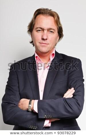 Szőke haj szett üzletember siker üzlet Stock fotó © toyotoyo