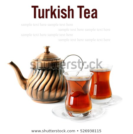 Turkish tea served in traditional glasses  Stock photo © grafvision