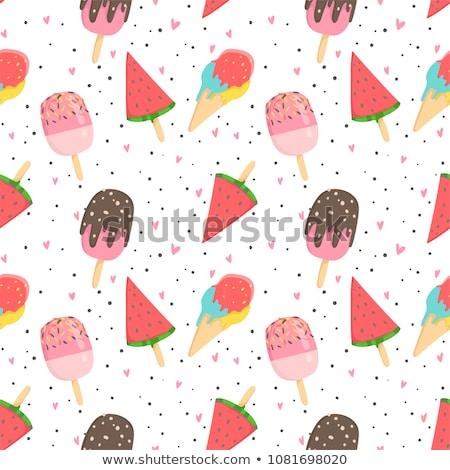 ice cream seamless pattern stock photo © artspace