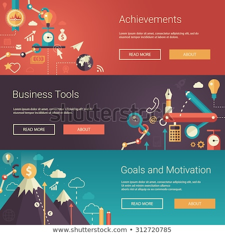 business · oplossing · landing · pagina · vector · investering - stockfoto © robuart
