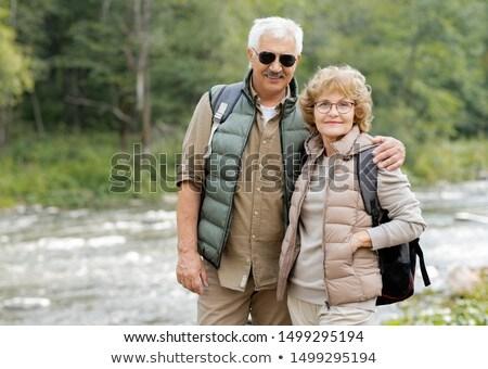 Gelukkig volwassen actief paar naar bos Stockfoto © pressmaster