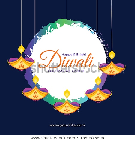 Stock photo: diwali decoration banner with lovely colors