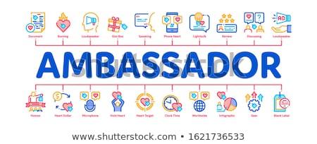 Ambassador Creative Minimal Infographic Banner Vector Stock photo © pikepicture