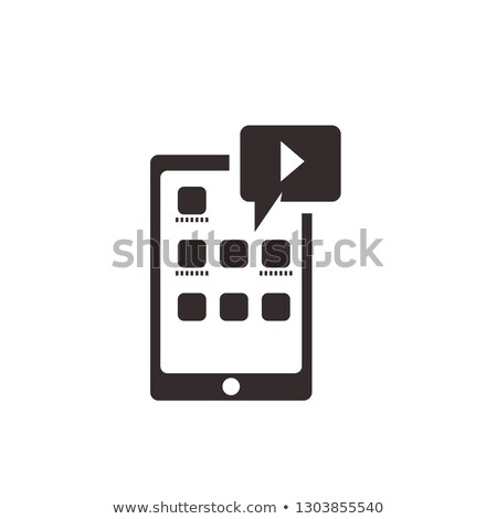 Internet Music Play List Icon Outline Illustration Stock photo © pikepicture