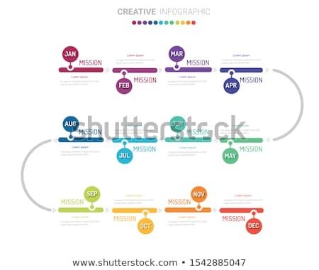Presentatie diagram maanden informatie vector vorm Stockfoto © robuart
