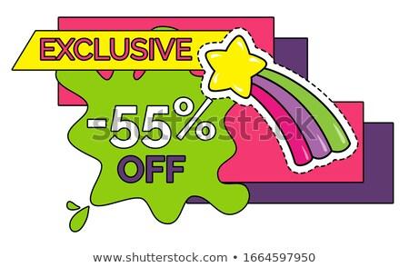 Exclusivo adesivo por cento isolado etiqueta Foto stock © robuart