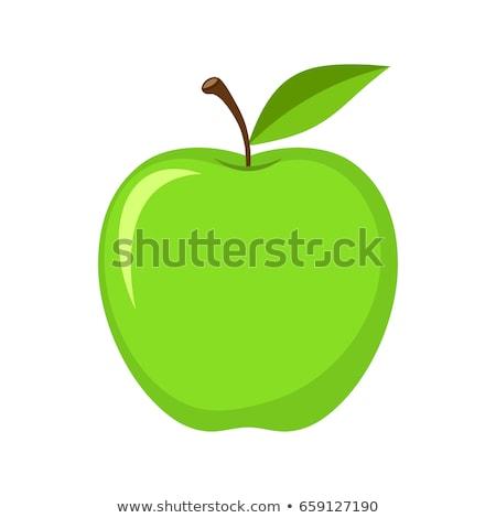Verde maçã apetitoso fruto isolado natureza Foto stock © Imaagio