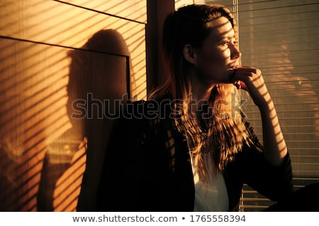 Business Woman Standing By Window With Venetian Blinds Stock photo © diego_cervo