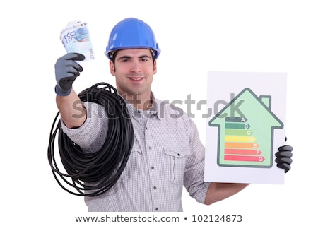 an electrician showing an energy class chart stock photo © photography33