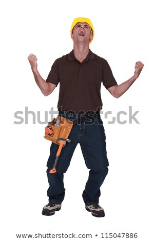 Stressed carpenter letting out pressure Stock photo © photography33