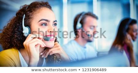 顧客サービス · 代表 · 女性 · 作業 · オフィス · 幸せ - ストックフォト © Kurhan