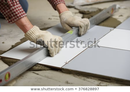 Tiler with materials Stock photo © photography33