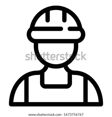 Sorridente arquiteto capacete de segurança isolado branco Foto stock © wavebreak_media
