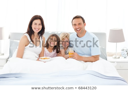 married couple and daughter having breakfast together stock photo © photography33