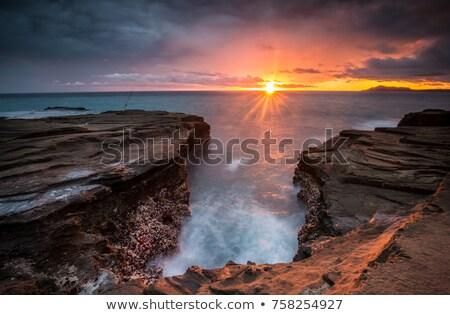 ışıklar okyanus mavi rays güneş deniz Stok fotoğraf © liliwhite