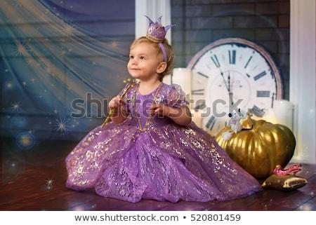 Kislány jelmez mosoly arc divat szemek Stock fotó © photography33